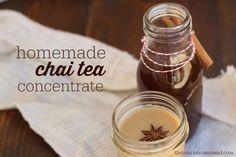 Homemade Chai Tea Concentrate Recipe on The Prairie Homestead at http://www.theprairiehomestead.com/2014/09/homemade-chai-tea-concentrate.html