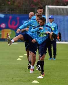 """Lorenzo Insigne of Italy in action during the training session at """"Bernard Gasset"""" Training Center on June 18, 2016 in Montpellier, France."""
