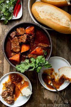 If you love beef stew, you definitely need to check out this Bo Kho recipe - this Vietnamese beef stew has all the flavors of a traditional beef stew with additional aromatics from lemongrass and star anise to give it another dimension of flavor. It also can be easily transformed into a beef noodle soup bowl as well! #recipe #vietnamesefood #bokho #stew #comfortfood #noodlesoup