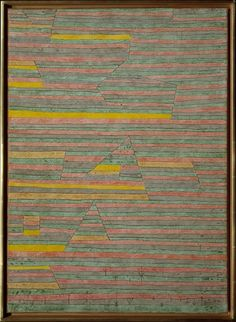 onuments at G. by Paul Klee by Paul Klee, Modern and Contemporary Art  Medium: Gypsum and watercolor on canvas