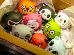 Go Lucky Neko Vinyl Toys by Delme , via Behance