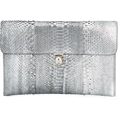 Alexander McQueen skull flap clutch ($1,115) ❤ liked on Polyvore featuring bags, handbags, clutches, grey, snake print handbag, skull clutches, grey purse, python purse and flap clutch
