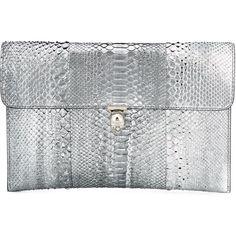 Alexander McQueen Skull Flap Clutch ($1,195) ❤ liked on Polyvore featuring bags, handbags, clutches, grey, python purse, skull handbag, snake print handbag, grey handbags and gray purse