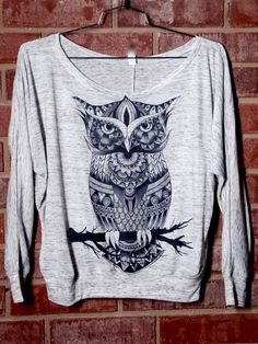Owl Zentangle Premium Off Shoulder – ElectroThreads