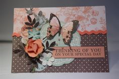 This is the first card I made with kaisercraft Ooh La La paper collection. I love this collection and bought the Paper Flourish Class in a box because it had all the 12 x 12 papers as well as a lot…