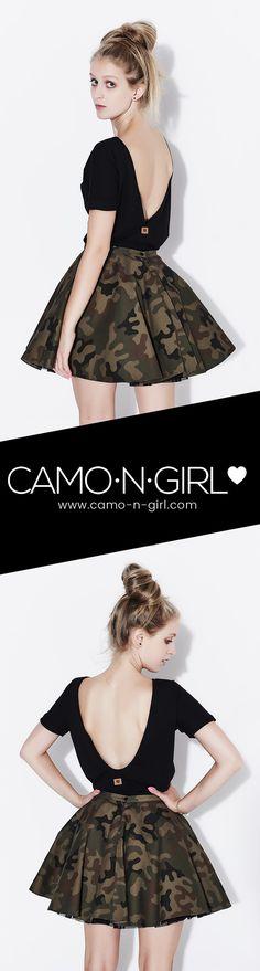 Bluzka z odkrytymi plecami ❤️ Camo n Girl