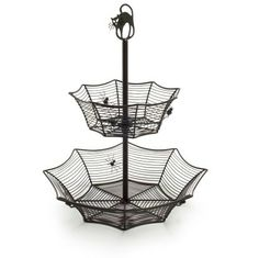 I'm definitely getting this for year-round use in the bathroom, like for jewelry or something.Two-Tiered Spider Web Candy Bowl at SurlaTable.com