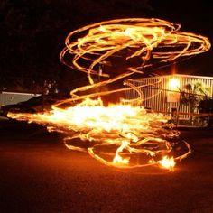 Fire hoop  @ WaterFire Providence
