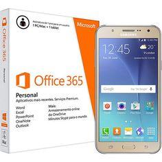 Galaxy J7 Duos Dourado + Office 365 - Shoptime.com