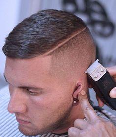 corte de pelo militar hombre con un lado rapado, ideas de cortes de pelo modernos para todas las longitudes