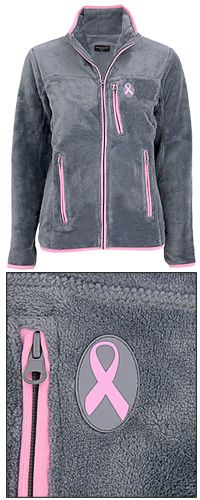 Pink Ribbon Everest Super Cozy Jacket at The Breast Cancer Site. Every purchase from site helps women get free mammograms!