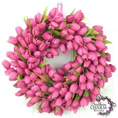 How to Make a Tulip Wreath/ might be cheaper to make than buy?