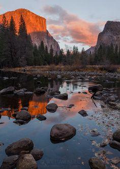 Sunset Reflections, Yosemite Valley, Yosemite National Park, California 2013