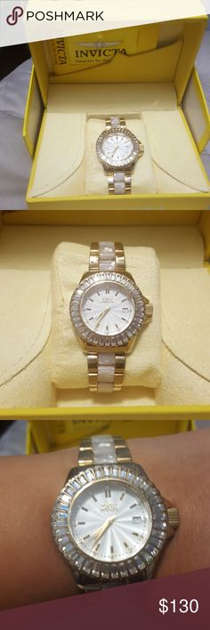 Beautiful INVICTA WATCH Amazing Bling❤ INVICTA WATCH. WITH A LOT OF BLING,BLING defiantly a eye catcher. Invicta Accessories Watches