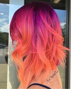 67 Trendy Ideas Hair Color Crazy Unique Short - All For Hair Cutes Cute Hair Colors, Pretty Hair Color, Hair Dye Colors, Bright Hair Colors, Hair Colour, Funky Hairstyles, Pretty Hairstyles, Short Haircuts, Short Wavy Hair