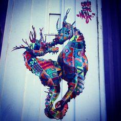 Street art | Mural (New Orleans, USA)  by Masai [Louis Michel]