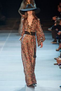 Saint Laurent maxi dress, Ruffled Up, Spring Summer 2013 #trends #ss13. Boho chic