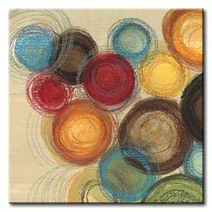 JlE_092_Wed Whimsy I Top / Cuadro Abstracto, Circulos de Colores