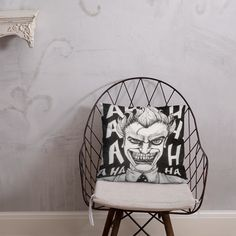 Joker Pillow Afternoon Nap, Book Stuff, Hanging Chair, Joker, Shapes, Pillows, Home Decor, Embroidery Ideas, Hand Embroidery