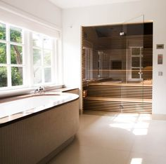 Home Spa Room, Spa Rooms, Toilet And Bathroom Design, Sauna Design, Sauna Room, Small House Decorating, Dream Bath, Piece A Vivre, Bathroom Inspiration
