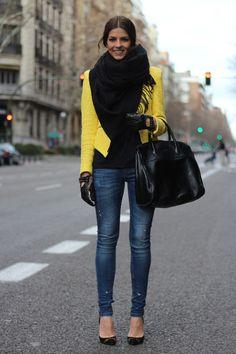 """NATALIA de http://trendytaste.com/2013/02/11/animal-instinct/ nos enseña lo mucho que le gusta la tendencia """"animal"""" en la moda con nuestros stilettos (ref. 9426 en 2ª REBAJAS 79,90€), ¿a que le sientan genial?"""