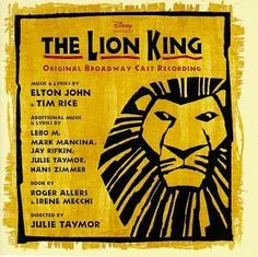 The Lion King (Broadway Musical Soundtrack). Music.