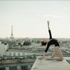 Ballerina Project in Paris: #Ballerina - @katieboren1 at #PalaisGarnier #Paris #Bodysuit by @wolfordfashion #Wolford #WolfordBodywear #EiffelTower #ballerinaproject_ #ballerinaproject #ballet #dance