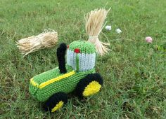"I thought I'd do another vehicle pattern this week!  Tractors seem to be having their ""moment in the sun,"" if you will.  The last time I was in the toy store, I saw several die-ca…"