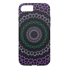 Circle mosaic pattern iPhone 7 case - click/tap to personalize and buy Triangle Shape, Triangle Pattern, Mosaic Patterns, Abstract Pattern, Iphone Models, Iphone Case Covers, Iphone 7, Purple, Shapes