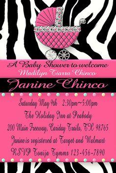 20 best hot pink and zebra baby shower invitations images on pink and black zebra baby shower filmwisefo
