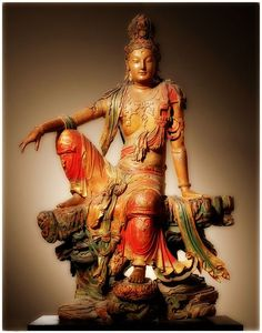 Liao Dynasty(ancient dynasty in modern north China) Guan Yin statue: