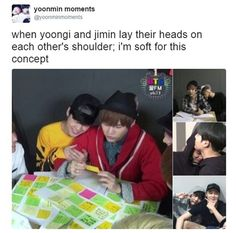 Yoonmin laying on each other's shoulders