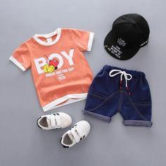 kid baby boys t shirt shorts summer clothes - May 04 2019 at Baby Outfits, Trendy Boy Outfits, Boys Summer Outfits, Toddler Girl Outfits, Kids Outfits, Summer Clothes, Toddler Dress, Baby Boy Fashion, Toddler Fashion