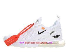 info for 1e5ef a6ff1 Off white x Coussin Dair Classique Nike Air Max 270 Gs Flyknit Femme Blanc  Noir gsAH8050