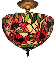 Tiffany Style Sunflower Ceiling Lamp