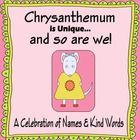 Chrysanthemum unit extends the story and uses 11 various activities to get the kids brainstorming kind acts and thinking about what makes each child special. $3.55