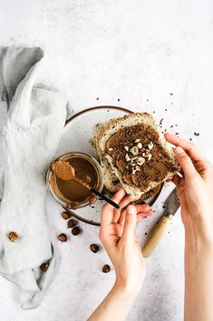 healthy home made nutella Brunch Recipes, Breakfast Recipes, Creative Food Art, Dairy Free, Food Photography, Food And Drink, Homemade, Vegan, Baking