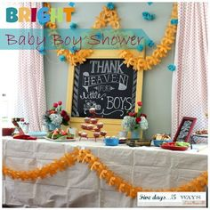 thank heaven for little boys pastries | Biblical Homemaking: Thank Heaven for Little Boys | Parties