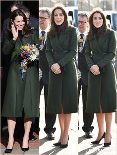 The Duchess of Cambridge has arrived in Edinburgh to carry out her first solo engagement in Scotland. Kate, who is known as the Countess of Strathearn north of the border, headed to St Catherine's Primary School to see the work carried out by children's mental health charity Place2Be, of which she is patron. Wearing a green MaxMara coat, the 34-year-old mother of Prince George and Princess Charlotte was greeted by excited pupils on her return to the city