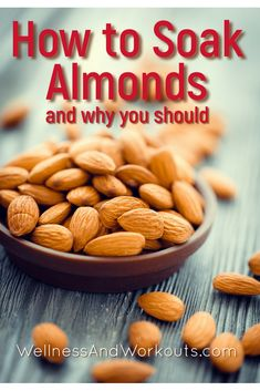 Wondering how to soak almonds, and why you'd want to? Almonds nutrtion is released best when they are soaked in water overnight. It is simple and easy to soak almonds, then dehydrate them for healthy and delicious crispy almonds for snacking or many other recipes, like almond milk, and almond butter. #almondsrecipes #soakedalmonds #soakednuts #crispynuts