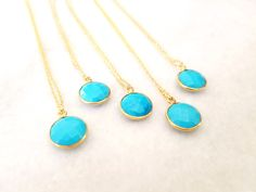 Turquoise Necklace /December Birthstone /Layer Necklace / gemstone necklace / Gold necklace / December Birthday gift