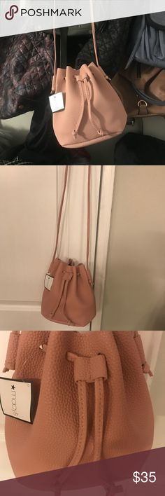8ab9e79d9845a Macy s Rose Pedal Pink   Blush Bucket Bag Brand New! Never Used!