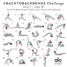 July Yoga Challenge! #BacktoBackbends Hosts: @beachyogagirl & @kinoyoga