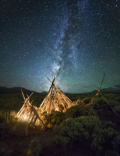 Magical Milky Way Teepee Photo by Forrest Boutin — National Geographic Your Shot