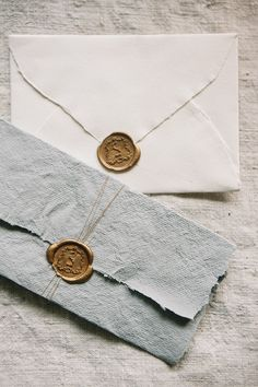 I love the detail in these envelopes and that it would be such a beautiful way to correspond. I love the wax seal and the tones of the paper, as well as the soft and textured edges