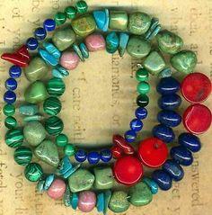 Southwest Turquoise Campo Frio Beads Lapis Malachite Rhodonite Red Coral Genuine | eBay