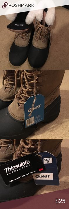 NWT Thinsulate Boots New with tags. Lace up boots. Perfect condition. Faux fur top lining. Perfect for cold or snow. Retail $49.99. Thinsulate Shoes Winter & Rain Boots