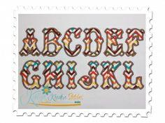 Extra Large Tagliato Applique Font for Machine Embroidery