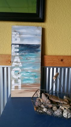 Reclaimed Wood Pallet Art Hand painted by TheWhiteBirchStudio