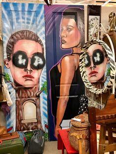 Graffiti Pop Art Door Lady & Male $75 Each Booth #208 Lula B's  1010 N. Riverfront Blvd. Dallas, TX 75207